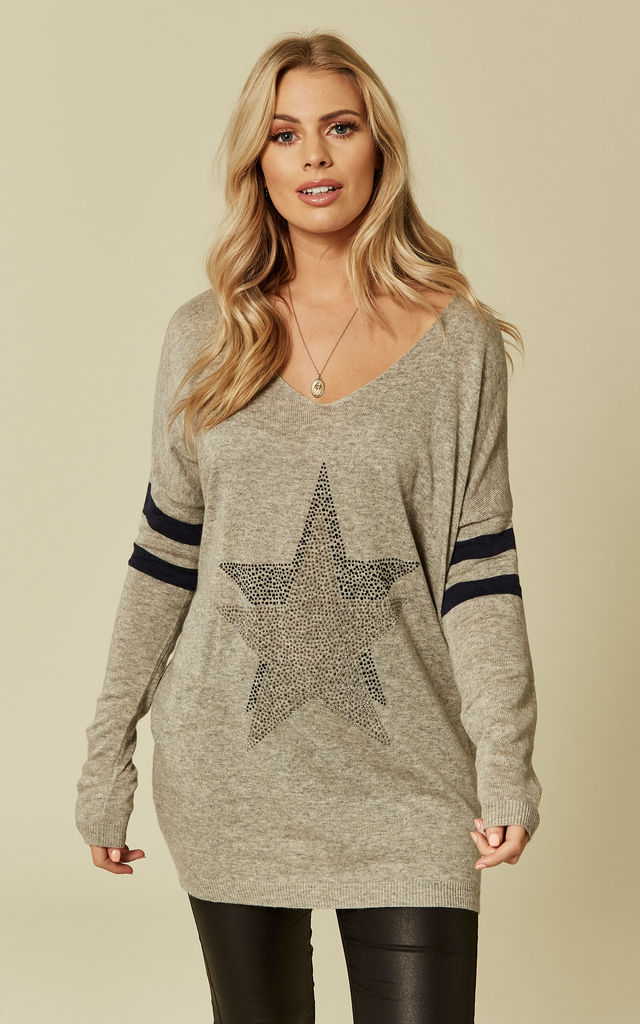 Grey Star Jumper by DIVINE GRACE