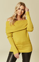 Yellow Off Shoulder Jumper by Liquorish