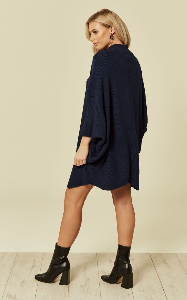 e20170154b3 Navy Knitted Dress by DIVINE GRACE