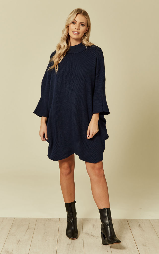 16a129db3e2 Navy Knitted Dress. By DIVINE GRACE