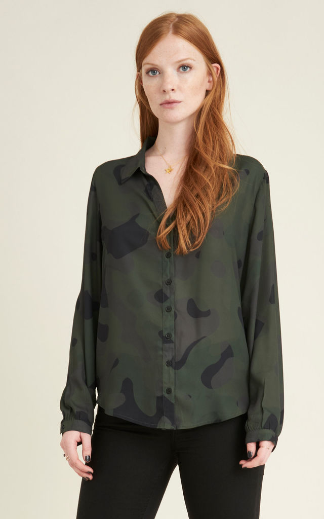 Saguaro eco-friendly printed chiffon shirt by VILDNIS
