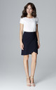 Navy Wrap Skirt by LENITIF