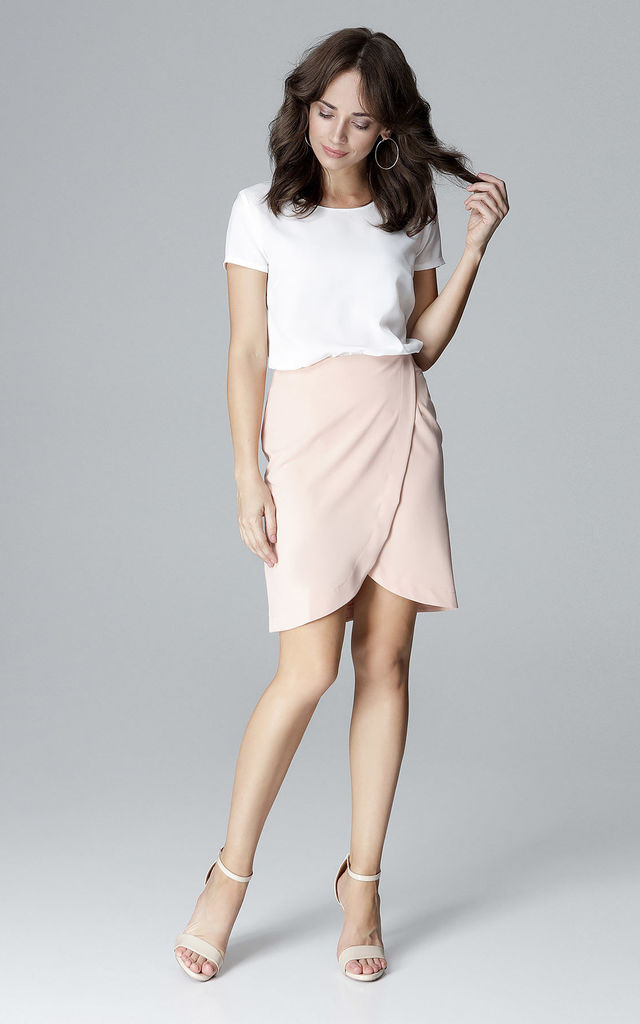 Pink Wrap Skirt by LENITIF