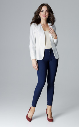 Short Fitted jacket in white by LENITIF