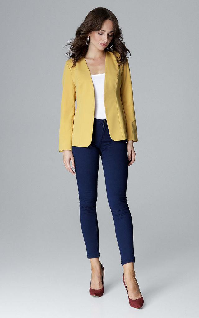 Yellow Jacket Without Fastening by LENITIF