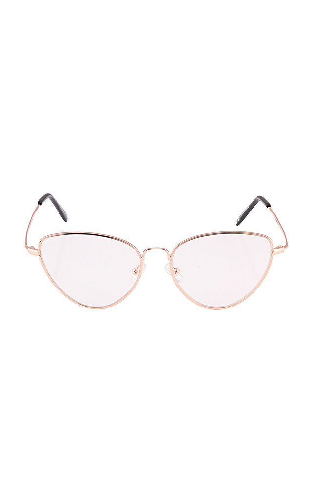 Reader Fashion Glasses In Rose Gold by Rogue Fox