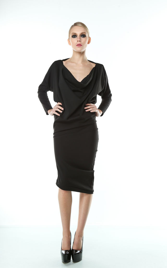 Drape Front Twist dress by Mccullock Women