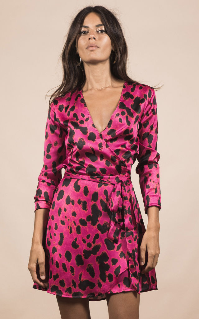 MARLEY DRESS IN PINK LEOPARD image
