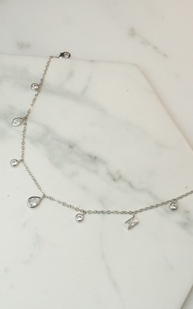 Sterling silver plated crystal drops anklet by EPITOME JEWELLERY