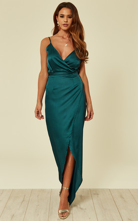 Mia Wrap Maxi Dress Emerald by Girl In Mind Product photo