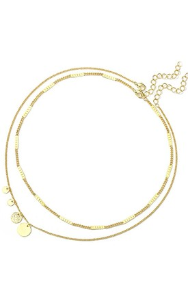 Double Layer Multi Circle Choker Gold by HAUS OF DECK