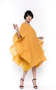 Party Dress with Oversized Statement Sleeves in Yellow by CY Boutique