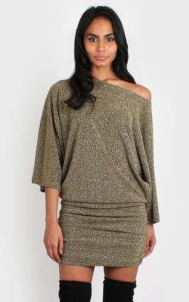 Claudia Dress Gold by Bullet