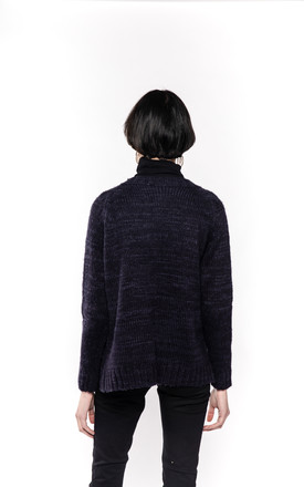 Long Sleeve Cable Knit Cardigan with Pockets in Navy by CY Boutique