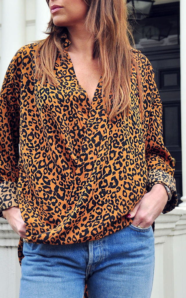 Yoko Shirt in Tan Spot Cheetah by Libby Loves