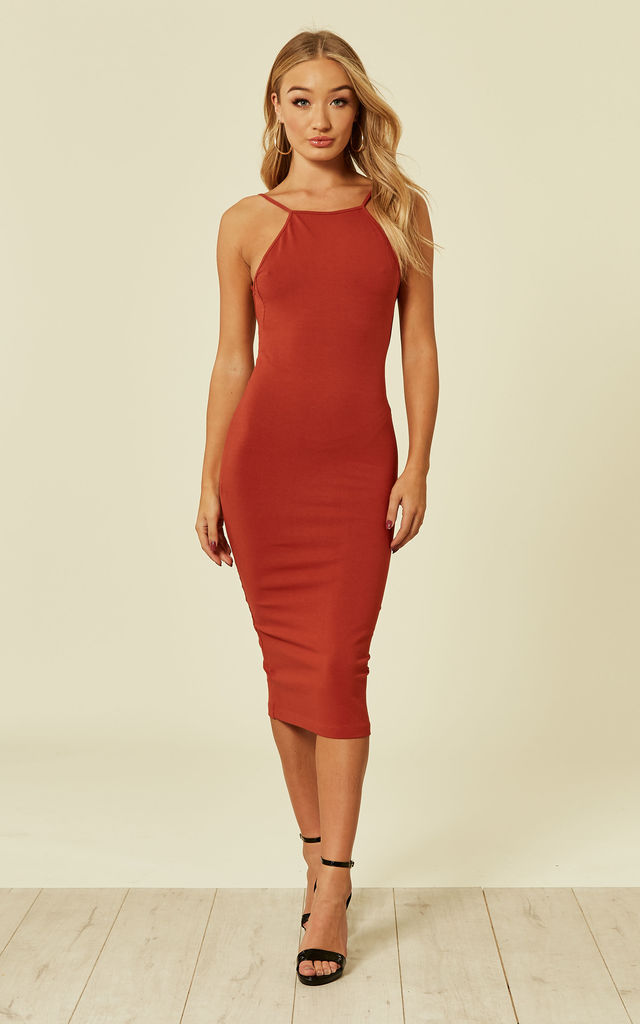 Nata Dress in Burnt Orange by Manners London