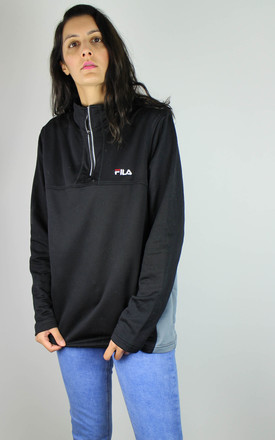 Vintage Fila Nylon Sweatshirt with Logo Front & 1/4 Neck by Re:dream Vintage