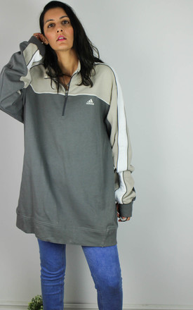 Vintage Adidas Sweatshirt with Logo Front & 1/4 Zip by Re:dream Vintage