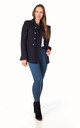 Whitney Navy Military Style Pea Coat by De La Creme Fashions