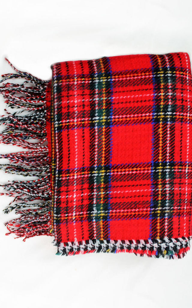 Double Sided Check Scarf by Candypants