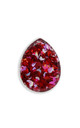 Queen of Hearts Teardrop Statement Ring by Lual Earrings