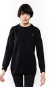 Long Sleeve High Neck Jumper with Face Design Patch in Black by CY Boutique