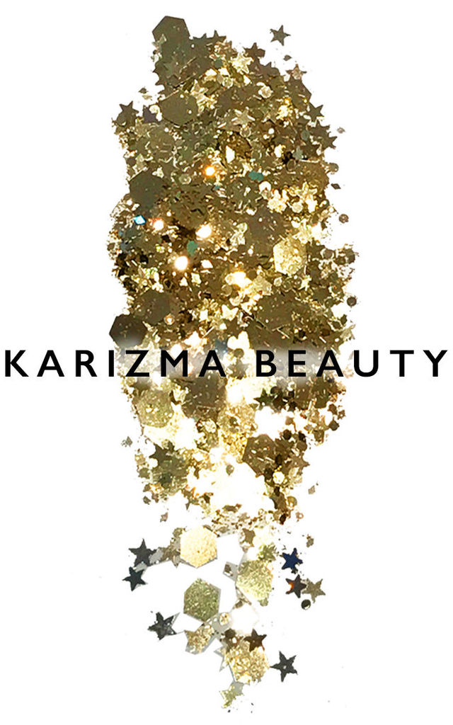 Rhythm Biodegradable Gold Cosmetic Chunky Glitter by Karizma
