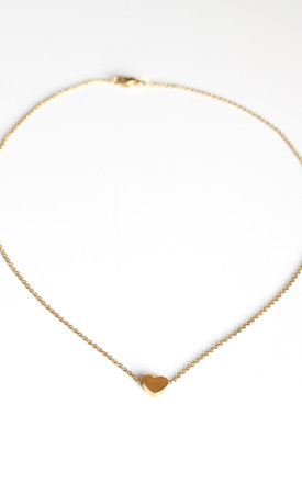 Gold Heart Chain Necklace by FreeSpirits