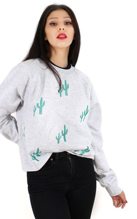 Glitter Cactus Boxy Sweater by Tallulah's Threads