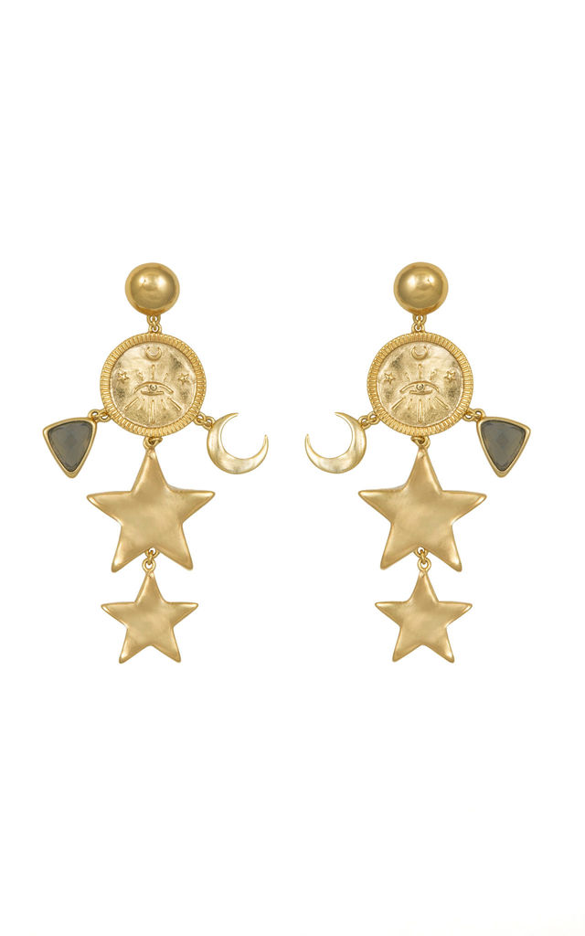Aleya Gold Earrings by Apache Rose London