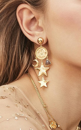 Aleya Gold Earrings by Apache Rose London Product photo