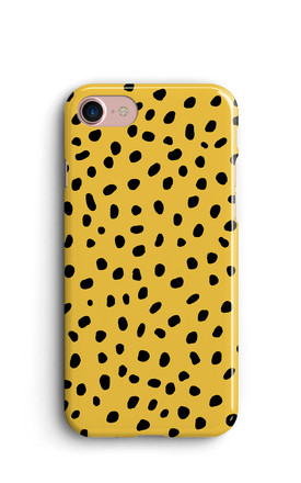 Memphis Spots / Polka Dots Phone Case   Yellow by Harper & Blake Product photo
