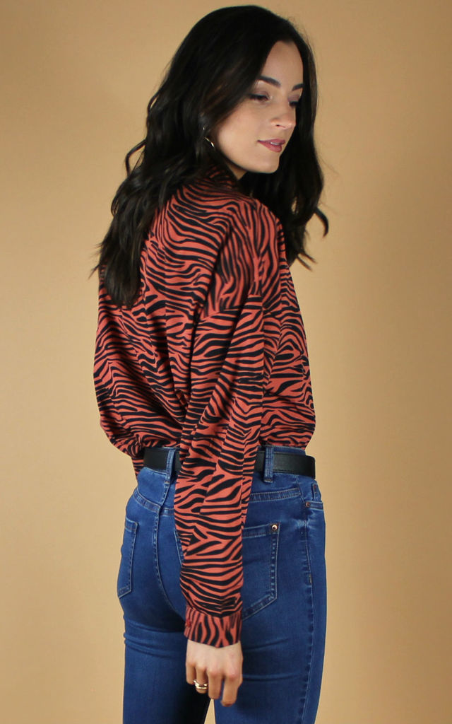 Zebra Print Shirt by HAUS OF DECK