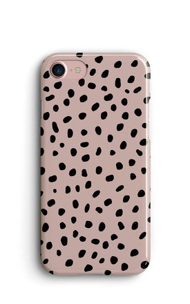 Memphis Spots Polka Dots Print Phone Case   Pink by Harper & Blake Product photo