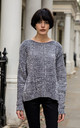 Velvety Jumper with Cable Knit in Grey by CY Boutique