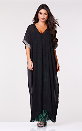 Gatsbylady Dee Long Kaftan in Black by Gatsbylady London
