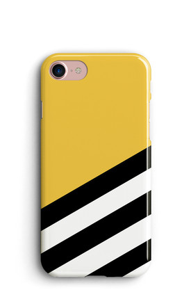 Geometric Stripes Phone Case   Yellow by Harper & Blake Product photo