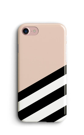 Geometric Stripes Phone Case   Pink by Harper & Blake Product photo
