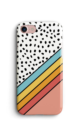 Rainbow Phone Case With Polka Dots   Coral by Harper & Blake Product photo