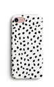 Memphis Spots Polka Dots Print Phone Case - White Black by Harper & Blake