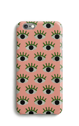 Mini Eyes Print Phone Case - Peach by Harper & Blake