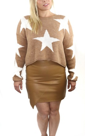 Cropped Knit Jumper Brown by Sebastian Storm