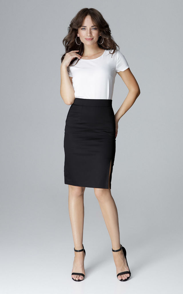 Black Cotton skirt by LENITIF