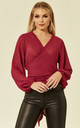 SAMMY - MULBERRY WRAP TOP by Goldie