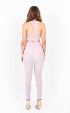 Glimmer Pink Loungewear Co-Ord Set by Mirror Image Style