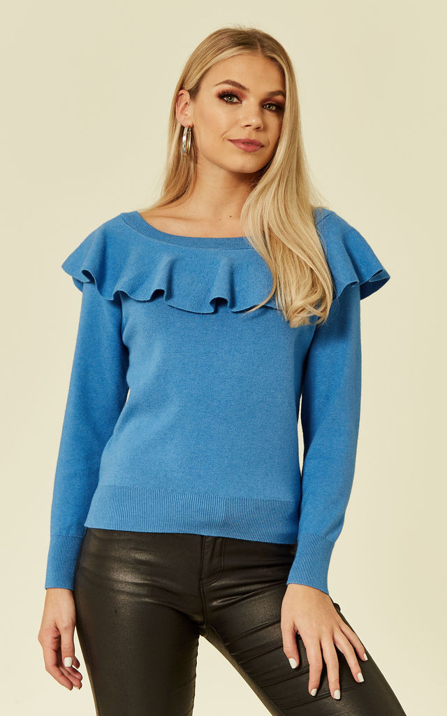MACRI OFF SHOULDER TOP - BLUE by Jovonna London