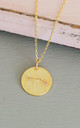 Gold Aries Star Sign Constellation Pendant Necklace by Booboo Boutique