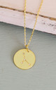 Gold Cancer Star Sign Constellation Pendant by Booboo Boutique
