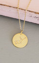 Gold Virgo Star Sign Constellation Pendant by Booboo Boutique