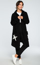 Black Hooded Star Cardigan by MOE
